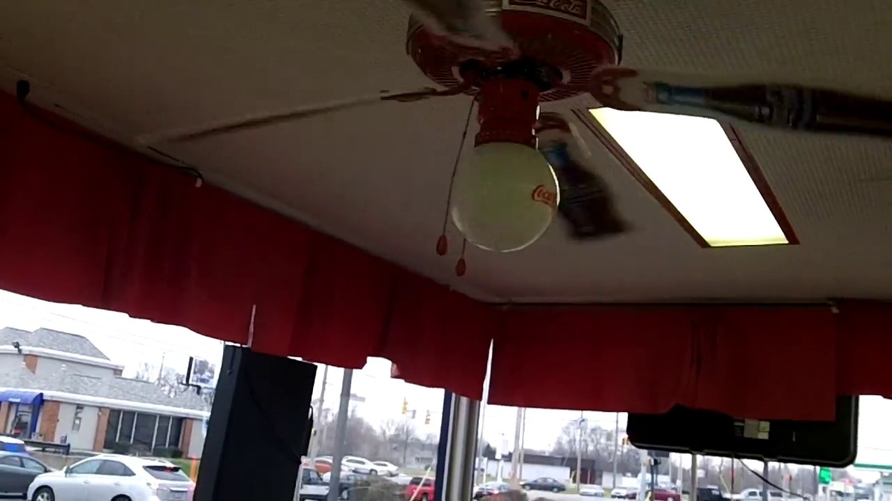 48 coca cola ceiling fan at dairy queen 2 of 4 youtube aloadofball Gallery