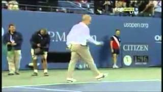 The comedian tennis match Novak Djokovic and John McEnroe