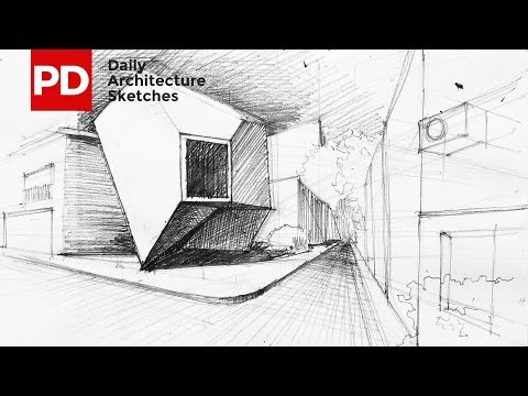 Drawing Reflection of Mineral House | Daily Architecture Sketches #4