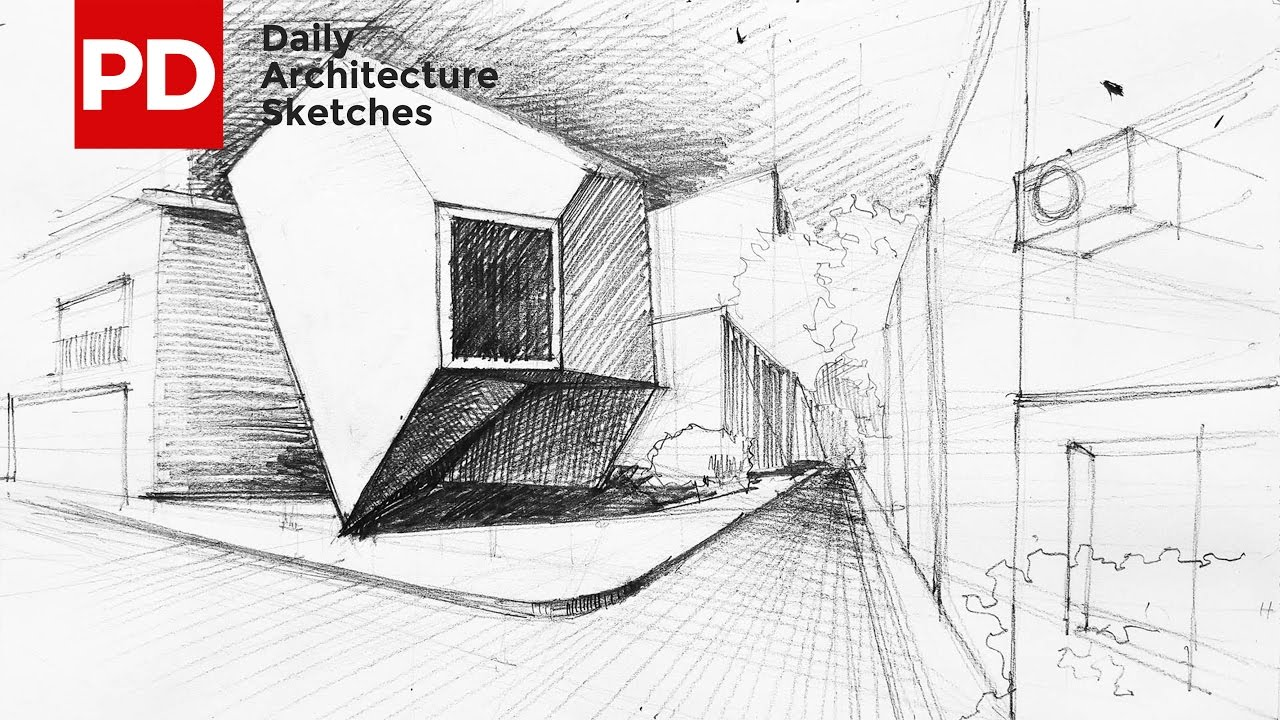 Drawing Reflection Of Mineral House Daily Architecture Sketches