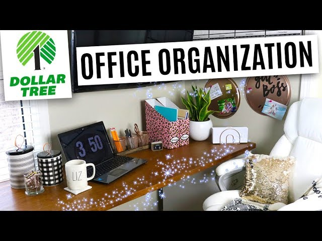 Dollar Tree Office Organization and Decor DIY's ⭐