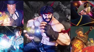 Street fighter 5 Arcade edition , all intros critical arts and win poses (including all dlc)