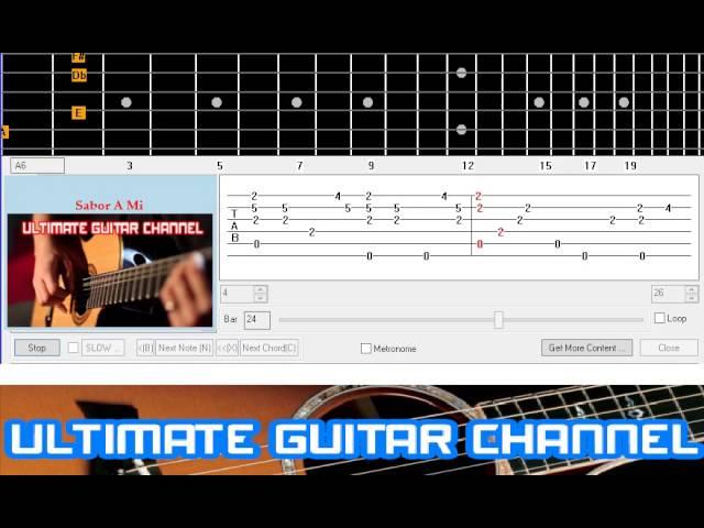 Guitar Solo Tab] Sabor A Mi (Los Panchos) Chords - Chordify