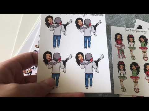 Black Friday STICKER haul || Sweet Paper Studio Designs, Haley Handmade Co & Banana Doodles Shop