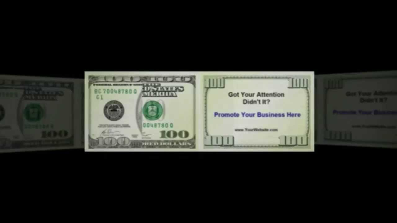 Dollar Bill Business Cards great for Prospecting - YouTube