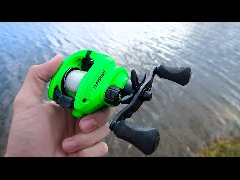 NEW 13 Fishing Inception SZ Cast Test (GREEN REEL)