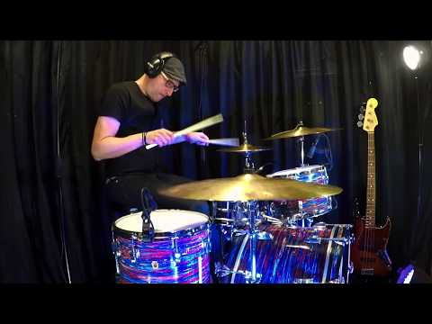 TRASH CRASH, Ludwig Psychedelic Red / Bosphorus Trash Crash and Pang Thang |Teijo Suomi Drums|