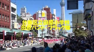 2018年8月25日(土)晴れ 第37回浅草サンバカーニバル 田原小 田原バン...
