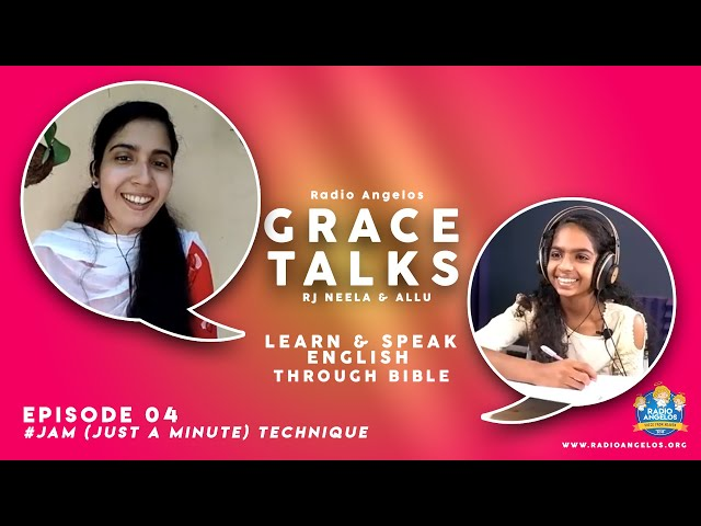 LEARN & SPEAK ENGLISH  THROUGH BIBLE 04 | Jam Tech | RADIO ANGELOS | RJ NEELA & ALLU