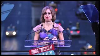 2012 Broadway.com Audience Choice Awards: Jackie Hoffman Accepts Favorite Actor for Alan Rickman