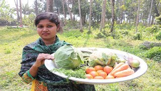 vegetable curry recipe || mix veg recipe Easy Vegetable Curry || Village Style mix vegetable recipes