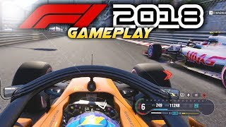 F1 2018 Exclusive Gameplay: Race & Crash at MONACO with Fernando Alonso! (F1 2018 Game McLaren)