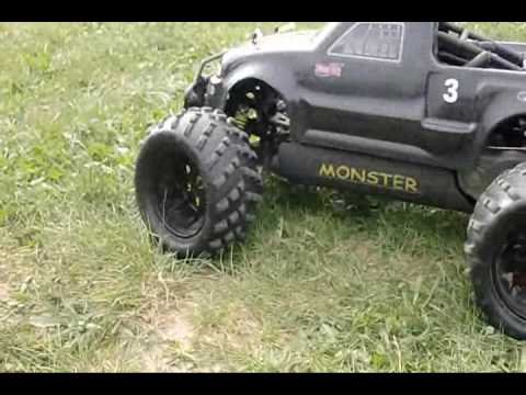 smartech monster truck 1 5 scale offroad 28cc youtube. Black Bedroom Furniture Sets. Home Design Ideas