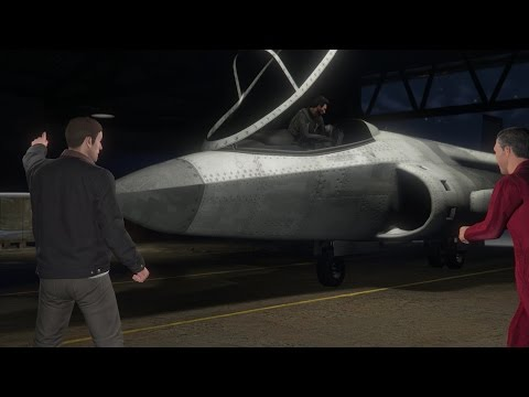 GTA: Online Heists: Stealing a Hydra Jet from an aircraft carrier and epic dogfight