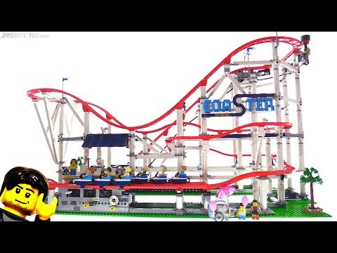 LEGO Creator Roller Coaster Review, motor power & size comparisons! 10261