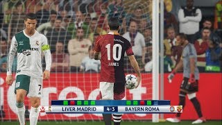 Liver madrid vs bayern roma i uefa champions league i pes 2018 penalty shootout