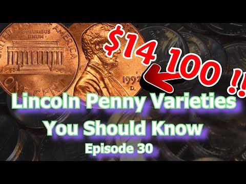 Lincoln Penny Varieties You Should Know Ep.30 - 1910, 1955, 1992