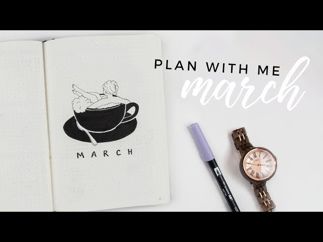 PLAN WITH ME | March 2018 Bullet Journal Setup + GIVEAWAY