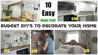 10 DIY'S TO DECORATE ON A BUDGET   EASY HOME DECOR PROJECTS   Momma From Scratch