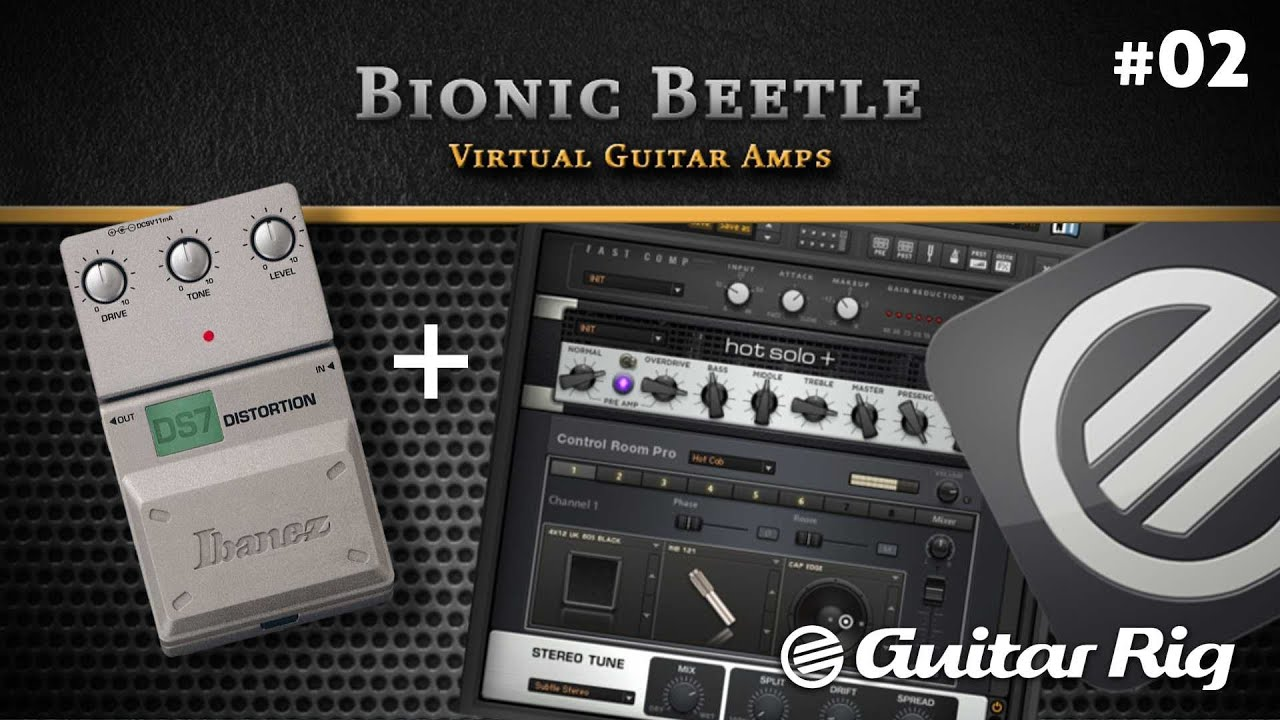 guitar amps guitar rig 5 pro with ibanez ds 7 test 02 youtube