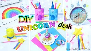 5 DIY Unicorn Style Desk Organization Ideas - How To Decorate Your Desk Every Unicorn Would Like