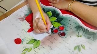 Como pintar rosas vermelhas