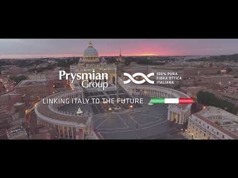 Italy with Prysmian: a world leader in optical fibers.