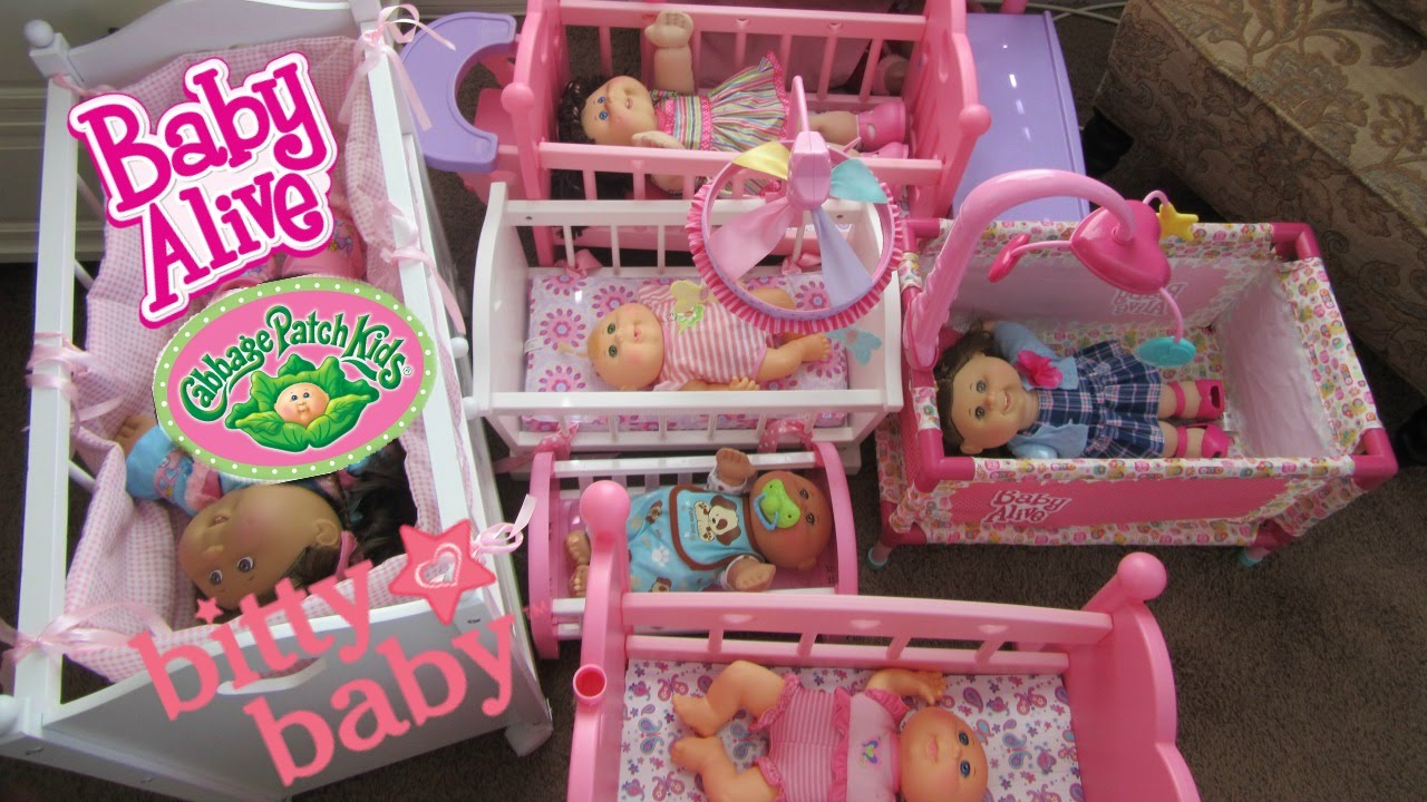 Cabbage Patch Baby Dolls Try Out Cribs Bunk Beds Made By Baby
