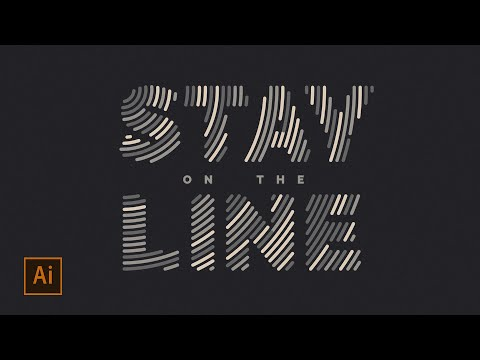 How To Fill Text With Lines In Illustrator