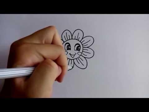 วาดการ์ตูนกันเถอะ สอนวาดการ์ตูน ดอกไม้น่ารัก