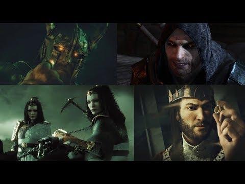 Middle Earth: Shadow of War all Nazgul Backstory Cutscenes |