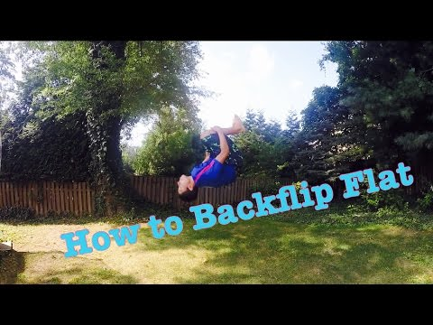 HOW TO DO A BACKFLIP ON THE GROUND