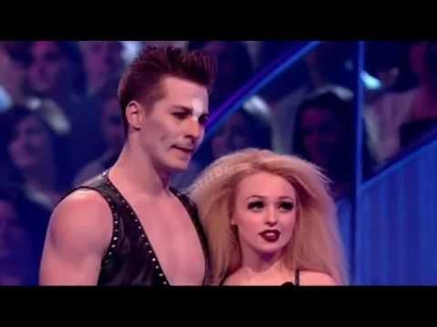 Jorgie Porter cuts Matt Evers' face on Dancing On Ice - 26th February 2012
