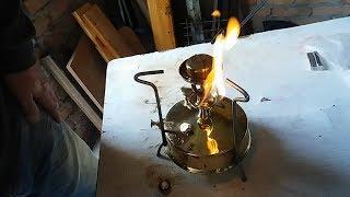 Примус Рекорд-1, з-д ''Штамп'', 1962г.в. (ч.4/4) Ремонт, восстановление. Первый розжиг. Пайка горелки.