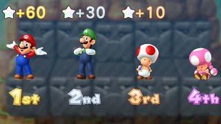 Mario Party 10 - Mario vs Luigi vs Toad vs Toadette - Whimsical Waters