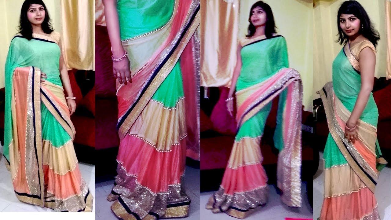 0e262e993d Make Designer Saree | How Make A New Designer Saree of Old Saree At Home |  Only 150#