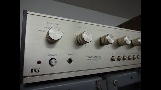 How to repair weak distorted channel Realistic SA 1000 home stereo amplifier D-Lab