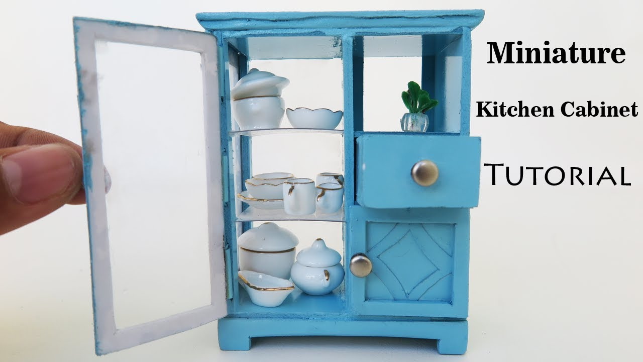 Kitchen Cabinets | DIY Miniature dollhouse furniture - Tutorial ...