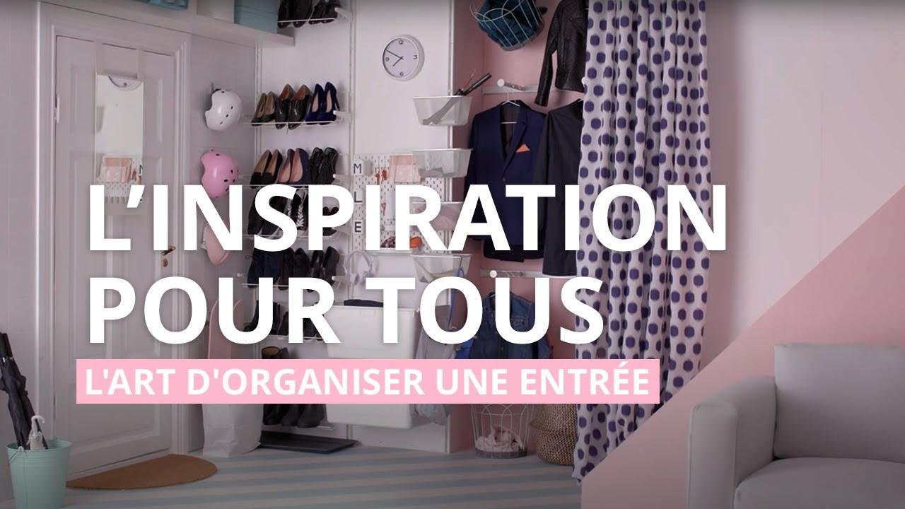 IKEA Idées Déco - L\'art d\'organiser l\'entrée - YouTube