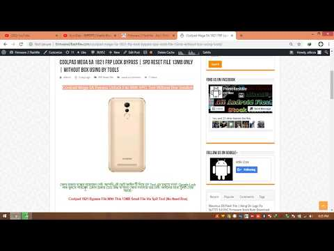 Coolpad Mega 5A 1821 FRP Unlock Solution With SPD Flash Tool