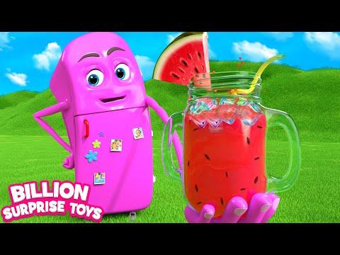 Refrigerator (Daddy's Gift) | Children Songs | Billion Surprise Toys