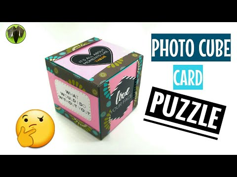 Photo Card Puzzle Cube - DIY ORIGAMI TUTORIAL - 915