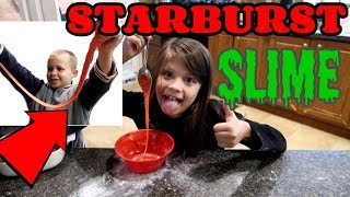 DIY Edible Starburst Slime! | Making the stretchiest slime!