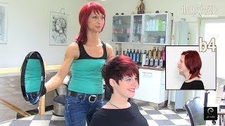 Extreme Pixie Short Haircut Makeover by Anja Herrig, hairundmehr.com red hair dye