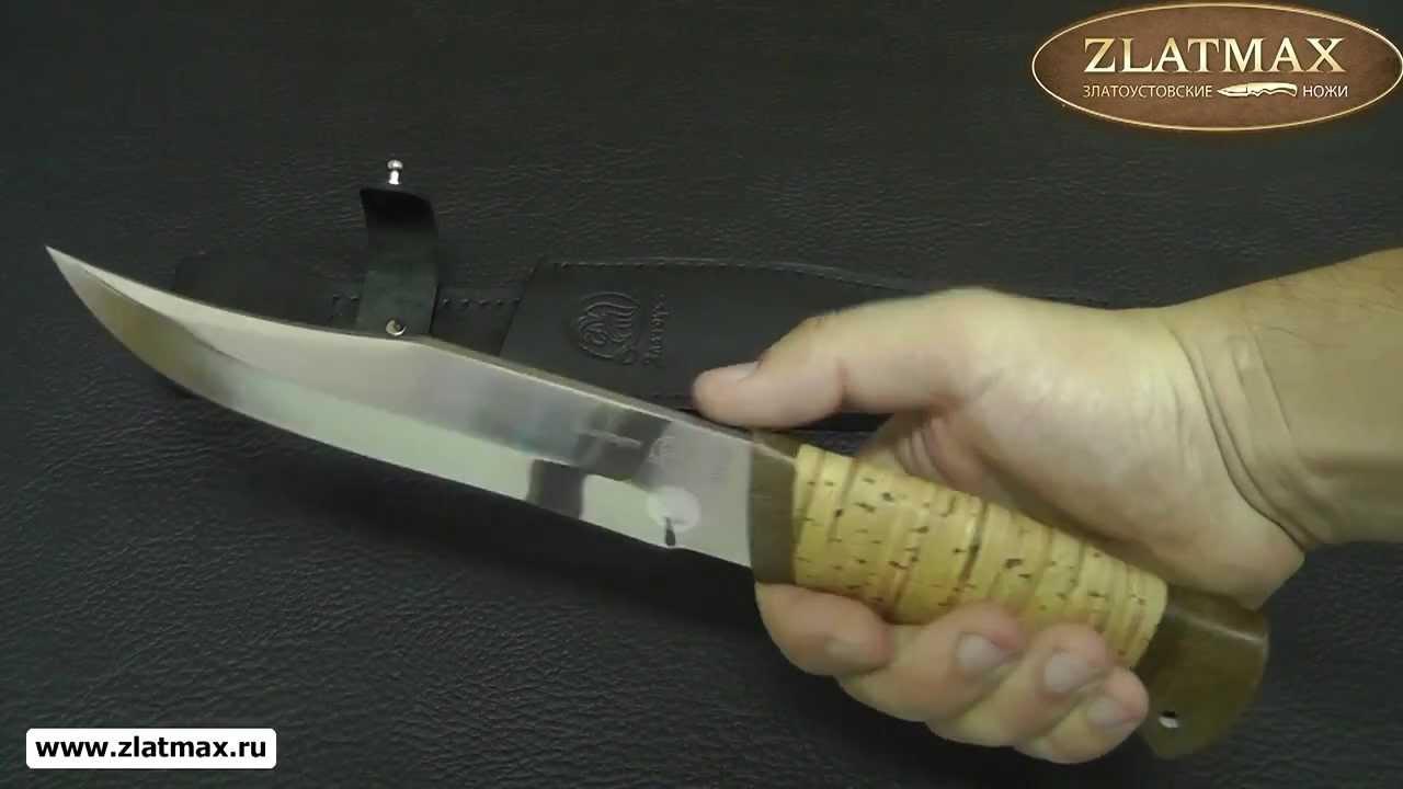 Видео Нож Волкодав (40Х10С2М, Наборная береста, Текстолит)