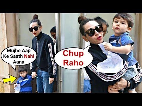 Taimur Ali Khan Angry  On Maasi Karishma Kapoor For Not Letting Him Draw