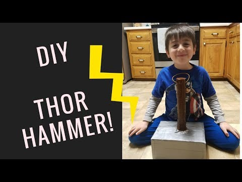 How to make a THOR Hammer! DIY!