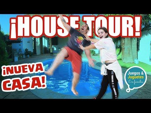 ¡HOUSE TOUR de nuestra NUEVA CASA! + tiramos a papá al agua // Familukis