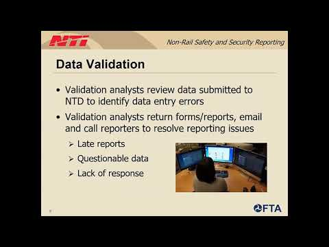 Webinar: NTD 2019 Safety And Security Non-Rail Mode Reporting