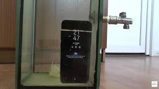 Проверка защиты от воды Samsung Galaxy S8 Plus